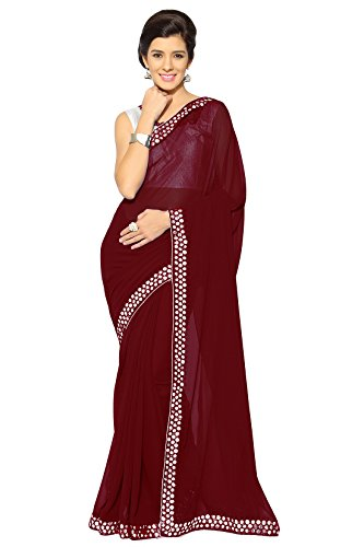 Bollywood Sarees for Women Party Wear Mirchi Fashion Indian Sari (4216_Maroon)