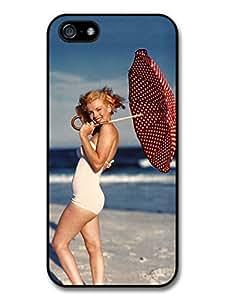 Marilyn Monroe Umbrella Beach Actress case for iPhone 5 5S