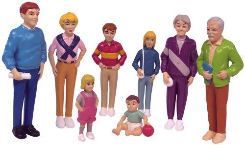 Miniland 27395 European Family 8 Figures, Multi-Color