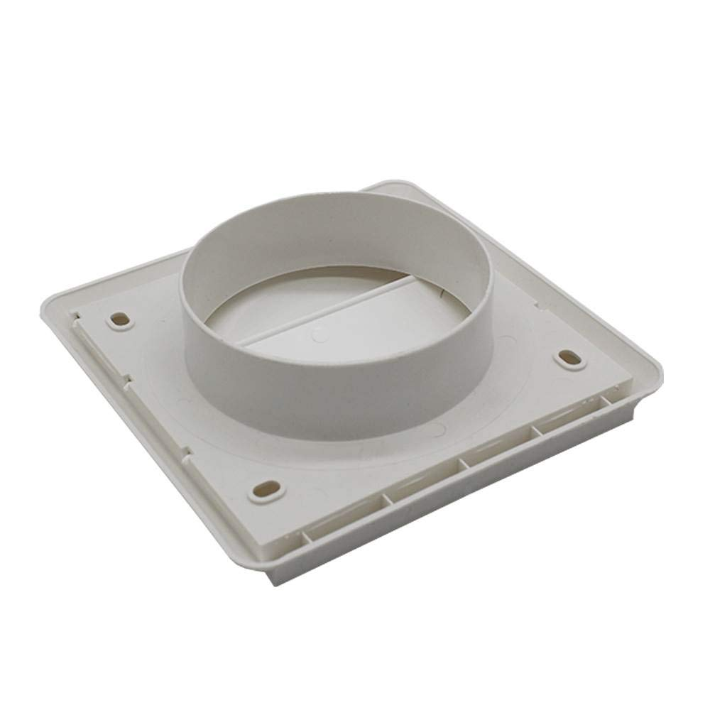 Kair Gravity Grille 100mm 4 inch Beige External Ducting Air Vent with Round Spigot and Not-Return Shutters