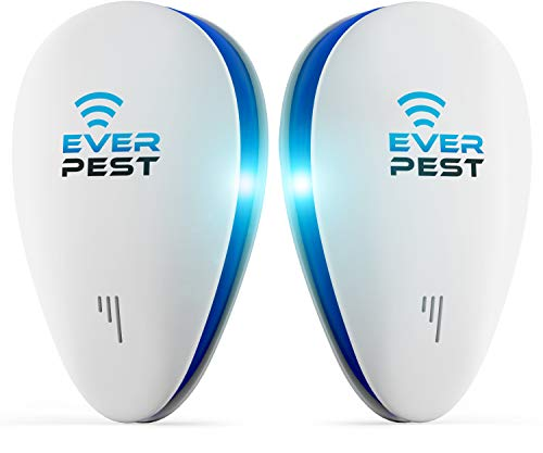 Ultrasonic Pest Mosquito Repellent Plug Control - Professional Home (2 Pack) Electronic Indoor Repeller - Repels Away Fleas, Bugs, Rodents, Roaches, Mice, Insect, Ants, Spiders, Rats