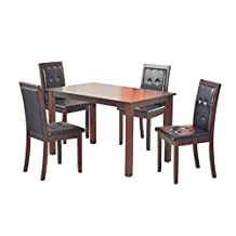 Kristen Dining Set, Dinning Table and 4 chairs Solid Wood