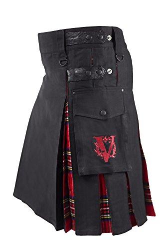 Verillas Men's Royalist Hybrid V-Kilt w/ Tartan Pleats 44...