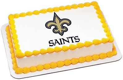 Super Amazon Com New Orleans Saints Licensed Edible Cake Topper 4685 Personalised Birthday Cards Sponlily Jamesorg