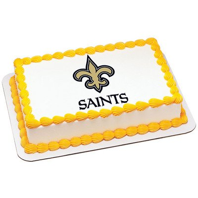 Image Unavailable Not Available For Color New Orleans Saints Licensed Edible Cake