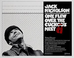 One Flew Over The Cuckoos Nest Classic Vintage Large Movie Poster Art Print