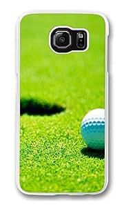 Golf green grass Custom Samsung Galaxy S6/Samsung S6 Case Cover Polycarbonate Transparent