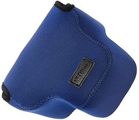 First2savvv QSL-RX10B-03G10 Funda Cámara Reflex Neopreno Protectora para Sony Cyber SHOT DSC HX400V HX400 azul + Lector de tarjetas SD