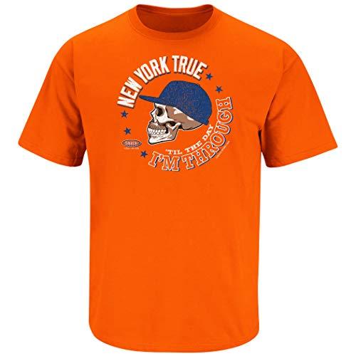 New York Baseball Fans. New York True 'Til The Day I'm Through Orange T-Shirt (Sm-5X) (Short Sleeve, 2XL)