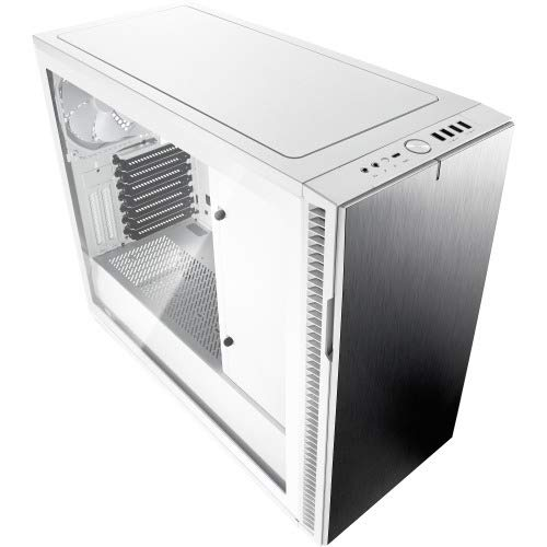 Fractal Design FD-CA-DEF-R6C-WT-TGC Define R6 USB-C White TG No Power Supply ATX Mid Tower with Window