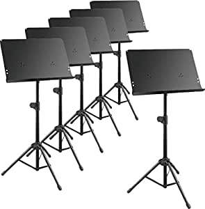 musician 39 s gear deluxe music stand 6 pack musical instruments. Black Bedroom Furniture Sets. Home Design Ideas