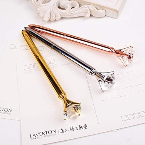 Tivollyff 高級ポータブルビッグクリスタルペンダイヤモンドボールペン文具ボールペンホームオフィス学用品