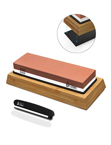 Knife Sharpening Stone, Whetstone Sharpener 1000/6000 2 Sided Grit...