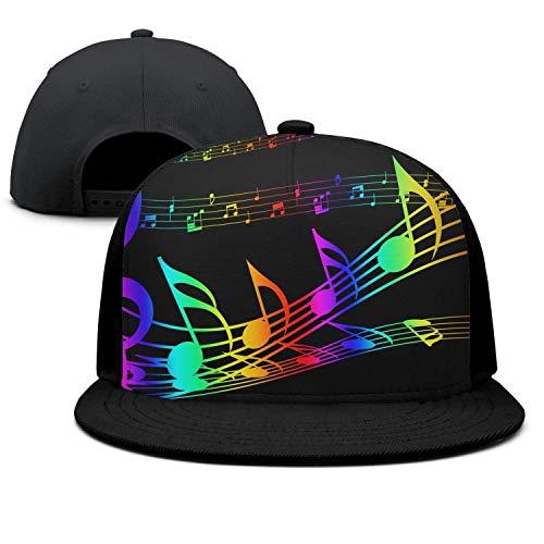 XUWUFAZHANGKJ Unisex Adjustable Baseball Cap Colorful Music Notes Trucker Hat Dad Hat -