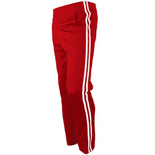 myglory77mall Men's Running Jogging Track Suit Warm Up Pants Gym Training Wear (3L US(5XL Asian Tag), Red)