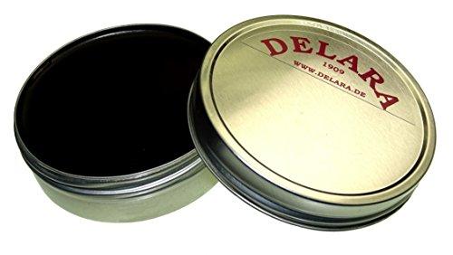 DELARA Pflegebalsam für Leder mit Jojoba und Bienenwachs, schwarz - Made in Germany