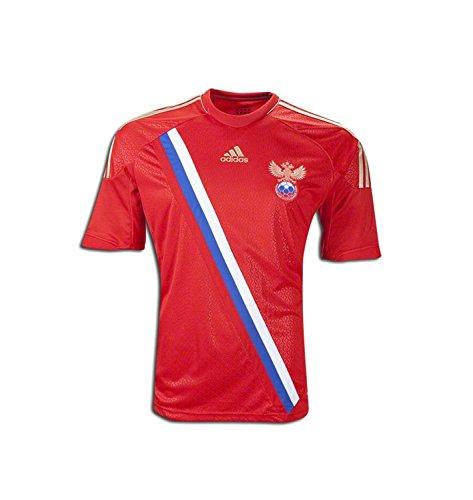 麻痺させる申し込むセブンAdidas Russia Home Soccer Jersey 2012/サッカーユニフォーム ロシア ホーム用 背番号なし
