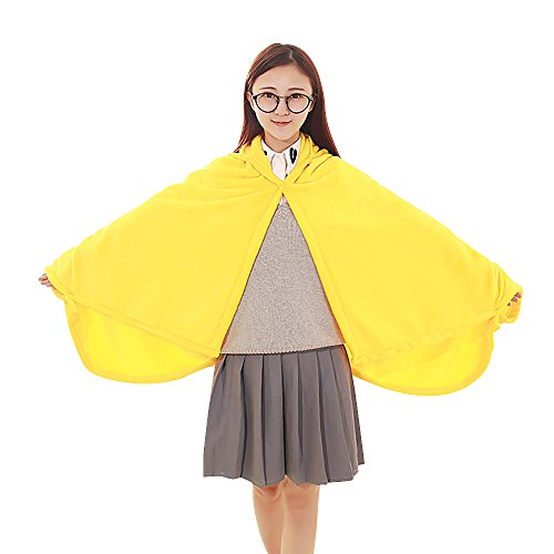 Smiley Costume Halloween (KINOMOTO Anime Cosplay Flannel Cloak Cape Hoodies Coat Daily Nap Throw Shawls Blanket Quilt (Smiley Emoticon))