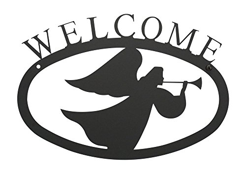 (17.5 Inch Angel Welcome Sign)