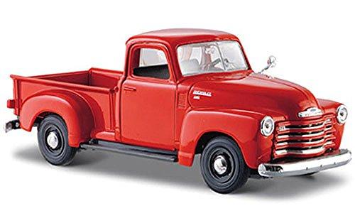 Maisto 1950 Chevy 3100 Pickup Truck, Orange 31952-1/24 Scale Diecast Model Toy Car, Multi