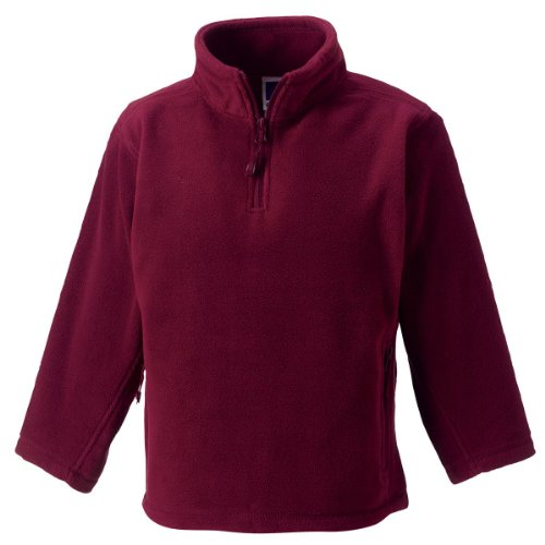 Jerzees Schoolgear Kinder 1/4 Zip Outdoor Fleece Burgund 7-8 Yrs