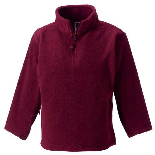 Jerzees Schoolgear Kinder 1/4 Zip Outdoor Fleece Burgund 7-8 Yrs