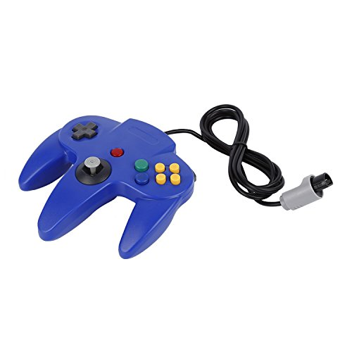 Game Controller,OCDAY Game Controller Joystick for Nintendo 64 N64 System Deep Blue Pad Mario Kart (N64 Controller)