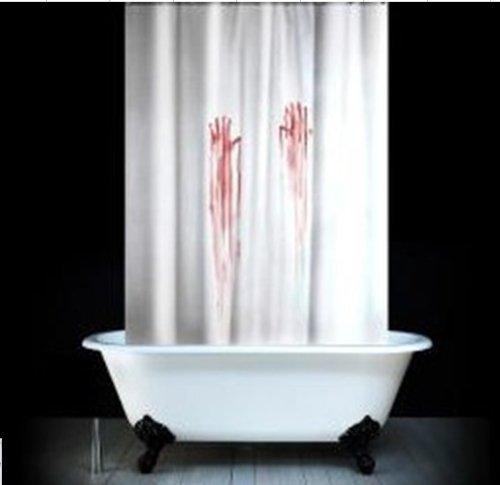 E-gift Halloween blood finger print Polyester Rustproof Mildewproof With Copper Buckle 180 cm X 180 cm