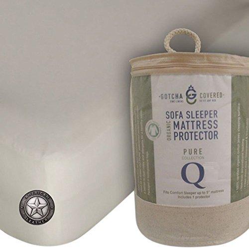 American Leather Comfort Sleeper 100% Organic Sofa Sleeper Mattress Protector - Queen Size (Sleeper Sofas Size Queen)