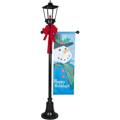 Outdoor Lamp Post Snowman - 9