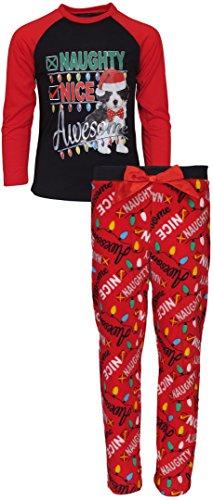 12' Cookie (Dollhouse Girls 2 Piece Christmas Theme Pajamas, Awesome, Size 12')