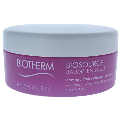 Biotherm Biosource Total Renew Balm-to-Oil Deep Cleanser for Face Waterproof Make-up, 4.22 Ounce