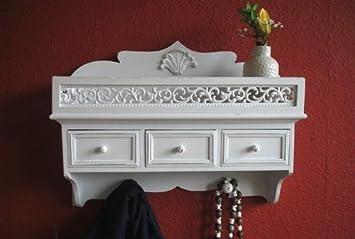Wandregal küche antik  Livitat® Küchenboard Wandregal antik Weiß Landhaus Blech ...