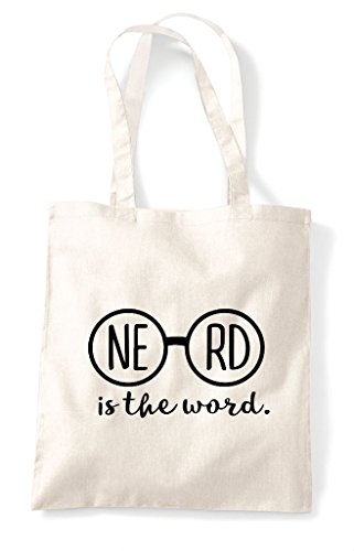 Shopper Natural Specs Nerd The Is Word Tote Glasses Nerdy Bag Statement HzqfwAqvt