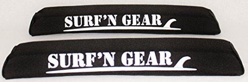 Surf'n Gear 19'' Sit On Top Roof Rack Pads - Black by Surf'n Gear