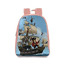 Farmost Cartoon Animal Pirate Ship Backpack Pink School Bags Travel Bag Large