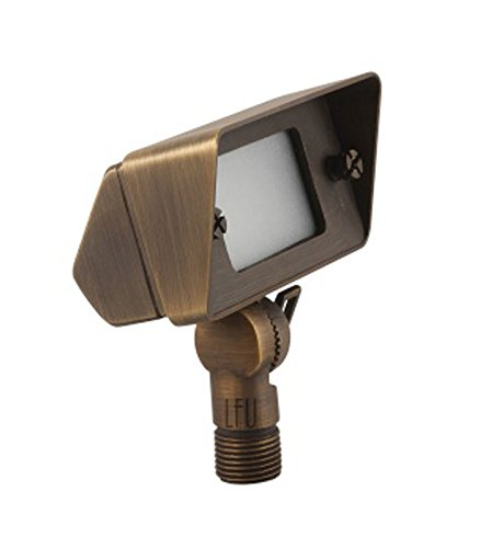 LFU Brass Constructed Flood Light. Antique Bronze Finished. (Low Voltage, Arvada)