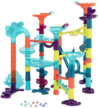 B. Toys ? Marble-Palooza ? 62Piece Marble Run ToyLights & Sound ? STEM Toy Marble Track for Kids 3 Years + (62-Pcs)