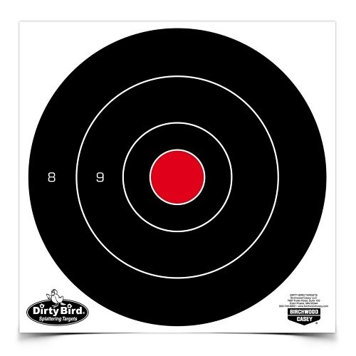 Birchwood Casey 35871 Dirty Bird Bull's-eye Target (200 Count), 8-Inch Dirty Bird Splattering Targets
