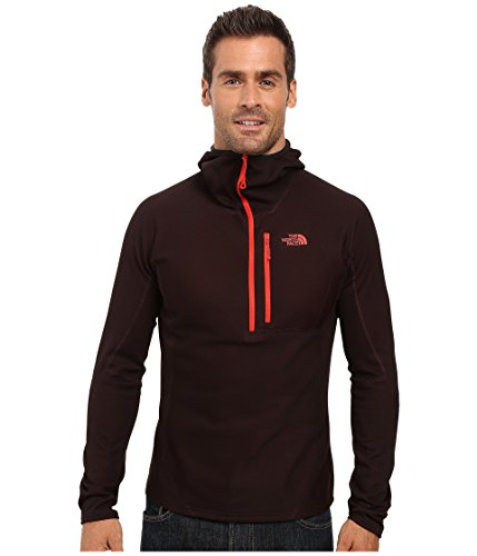 orm Dolomiti 1/4 Zip Hoodie Men's TNF Black Fuse/Fiery Red M (North Face Mens Single)