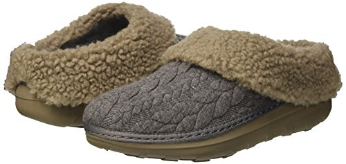 Donna Fitflop Grigio charcoal Quilted Loaff Slippers Pantofole SwOF8Iaq