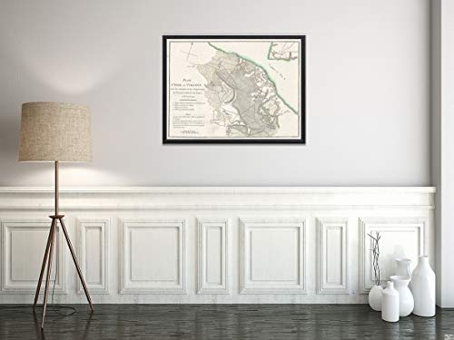 1787 of The Battle of Yorktown, Revolutionary War, Virginia Map|Vintage Fine Art Reproduction|Size: 18x24|Ready to Frame