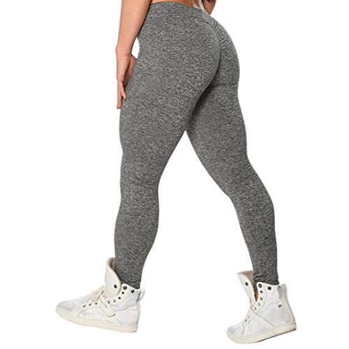 (Women Sexy Ass Solid Workout Leggings Fitness Sports Gym Yoga Athletic Pants)