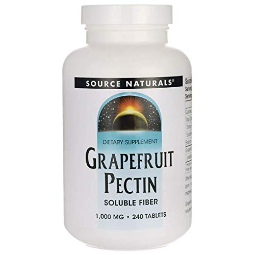 - Source Naturals Grapefruit Pectin 1,000mg Pure Form of Soluble Fiber - Supplement - Vegetarian Friendly - 240 Tablets