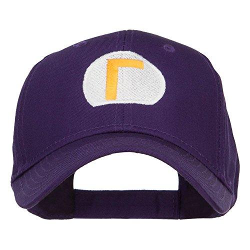 E4hats Mario Luigi Wario Waluigi Embroidered Cap - Purple - Luigi Purple