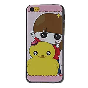 A little Girl and A Yellow Duck Pattern Hard Case for iPhone 5C