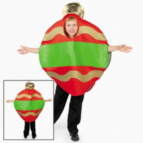 Christmas Tree Ornament Holiday Child Costume Photo NWT OSFM 4-14 (Oriental Trading Christmas Costumes)