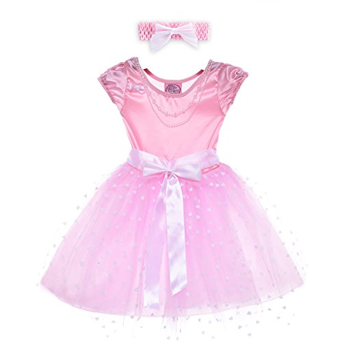 HBB Kids Girl's Princess Dress Up Dance Tutu Costume With Headband & Shoes SZ 3-5 (PD03)]()