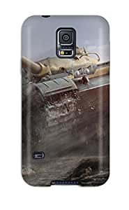 New Shockproof Protection Case Cover For Galaxy S5/ World Of Tanks Case Cover
