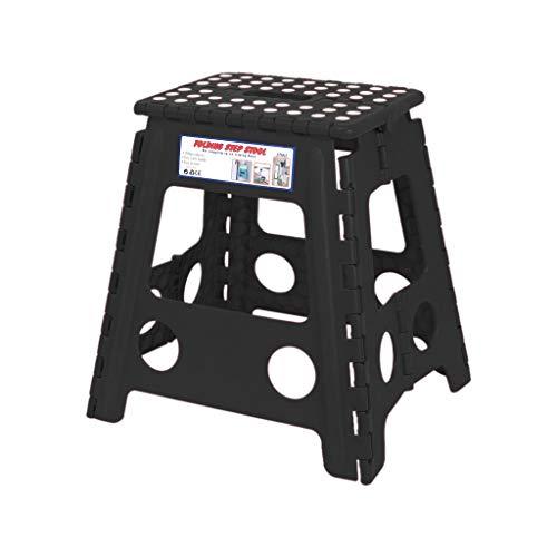 Fan-Ling Multi Purpose Folding Step Stool,Home Plastic Folding Stool, Portable Light Sturdy Outdoor Fishing Folding Stool,Bathroom Bench,Foldable (Black 4)